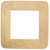 Metal Blank 24ga Brass 9pcs Washer-square 30mm With Hole